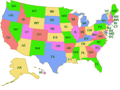 BridgesKids State Resources And Information USA Map - A usa map
